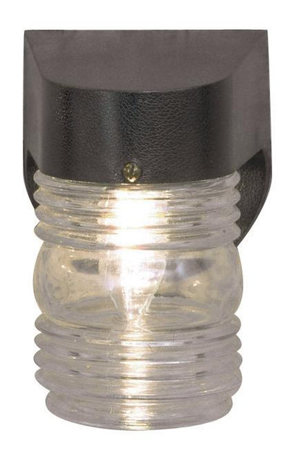 6-3/8 Inch With Poly Fix Withgl Jar Black-F4310-31 by Sunset Lighting
