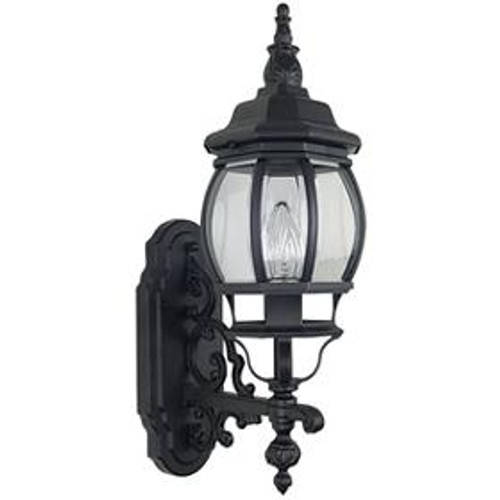 French Lantern Rubbed Bronze Outdoor Wall Light-F7895-62 by Sunset Lighting