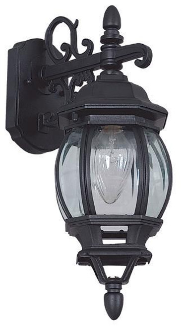 French Lantern Black Outdoor Wall Light-F7894-31 by Sunset Lighting