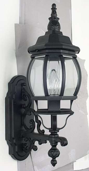French Lantern Black Outdoor Wall Light-F7895-31 by Sunset Lighting