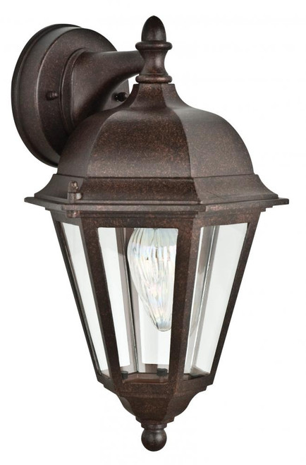 Violet Rubbed Bronze Outdoor Wall Light-F7846-62 by Sunset Lighting