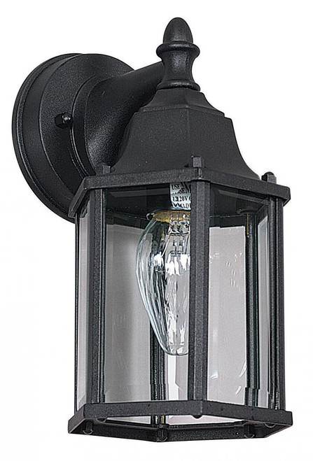 Violet Black Outdoor Wall Light-F7851-31 by Sunset Lighting