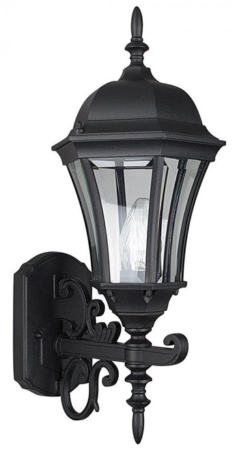 Violet Black Outdoor Wall Light-F7857-31 by Sunset Lighting