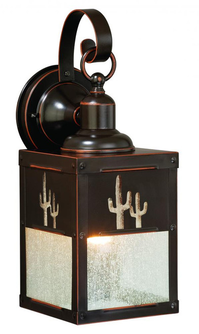 Calexico Burnished Bronze Outdoor Wall Light-T0325 by Vaxcel Lighting