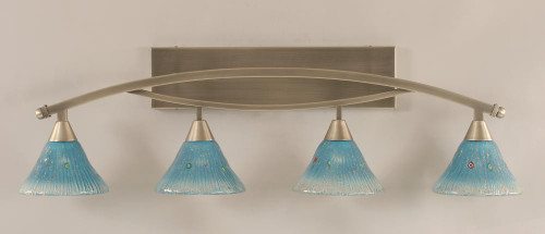 Bow Brushed Nickel Bathroom Vanity Light-174-BN-458 by Toltec Lighting