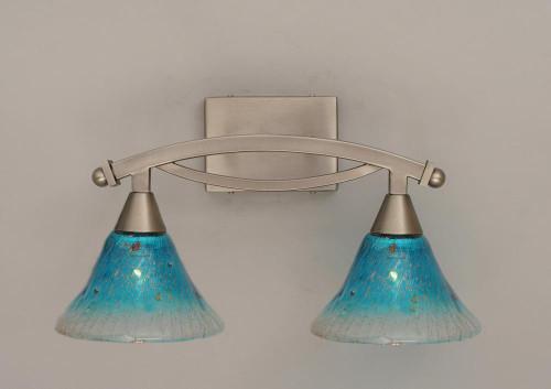 Bow Brushed Nickel Bathroom Vanity Light-172-BN-458 by Toltec Lighting