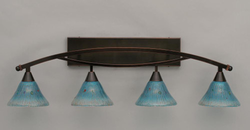 Bow Black Copper Bathroom Vanity Light-174-BC-458 by Toltec Lighting