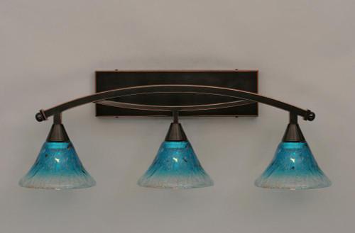 Bow Black Copper Bathroom Vanity Light-173-BC-458 by Toltec Lighting