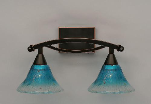 Bow Black Copper Bathroom Vanity Light-172-BC-458 by Toltec Lighting