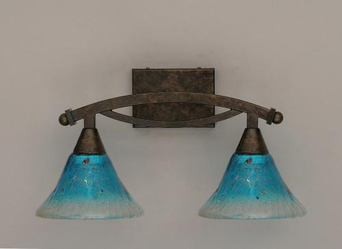 Bow Bronze Bathroom Vanity Light-172-BRZ-458 by Toltec Lighting