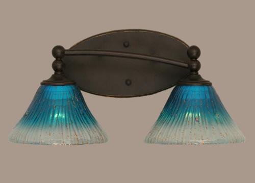 Capri Dark Granite Bathroom Vanity Light-592-DG-458 by Toltec Lighting
