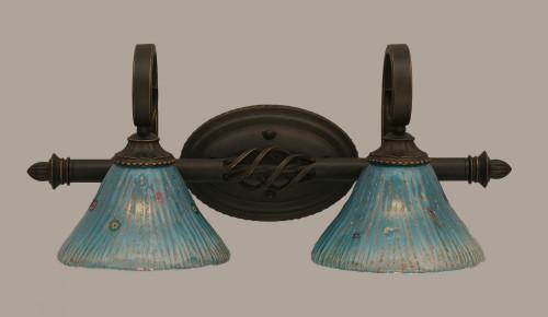 Elegante Dark Granite Bathroom Vanity Light-162-DG-458 by Toltec Lighting