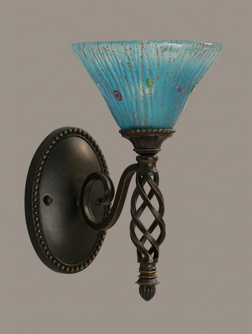 Elegante Dark Granite Bathroom Vanity Light-161-DG-458 by Toltec Lighting