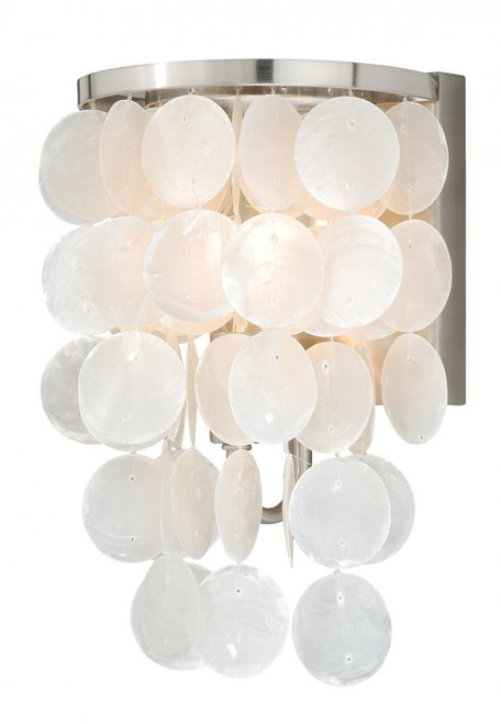 Elsa Satin Nickel Bathroom Vanity Light-W0151 by Vaxcel Lighting