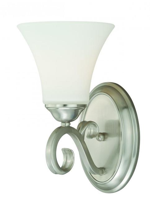 Belleville Satin Nickel Bathroom Vanity Light-W0194 by Vaxcel Lighting