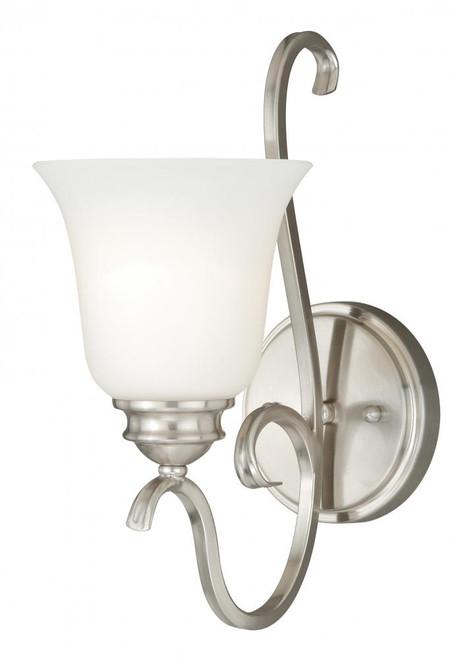 Hartford Satin Nickel Bathroom Vanity Light-W0160 by Vaxcel Lighting
