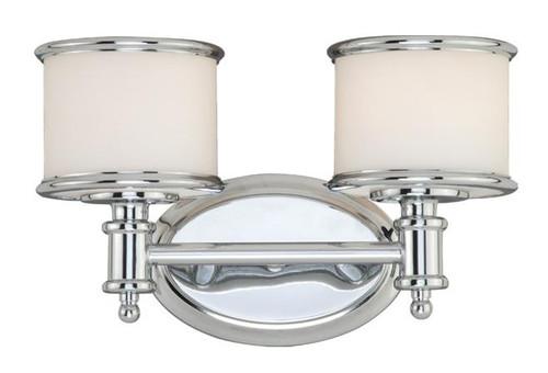 Carlisle Chrome Bathroom Vanity Light-CR-VLU002CH by Vaxcel Lighting