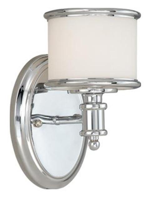 Carlisle Chrome Bathroom Vanity Light-CR-VLU001CH by Vaxcel Lighting
