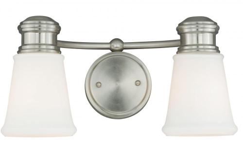 Malie Satin Nickel Bathroom Vanity Light-W0219 by Vaxcel Lighting