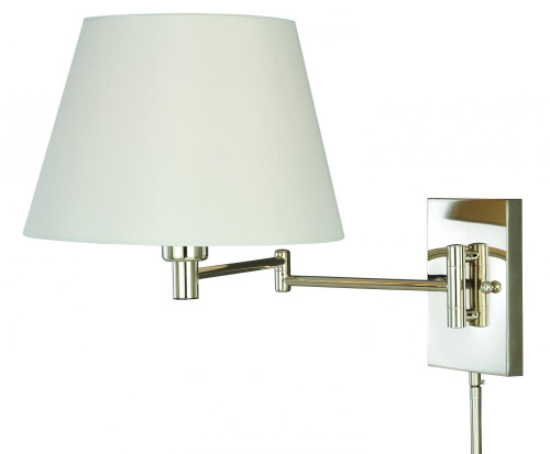 Chapeau Polished Nickel Wall Sconce-W0200 by Vaxcel Lighting