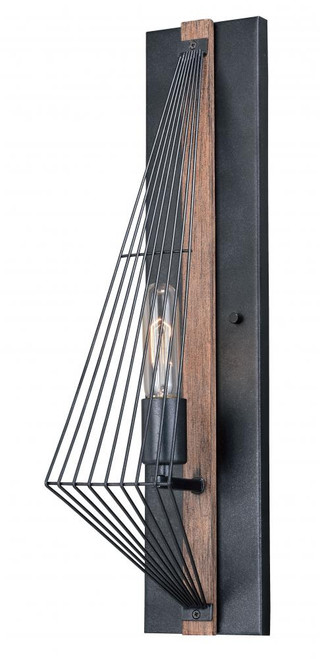 Dearborn Black Wall Sconce-W0252 by Vaxcel Lighting
