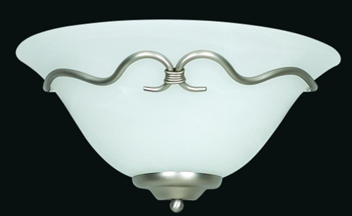 Madrid Satin Nickel Wall Sconce-F6340-53 by Sunset Lighting