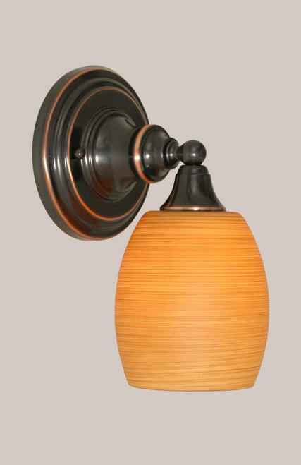Black Copper Wall Sconce-40-BC-625 by Toltec Lighting