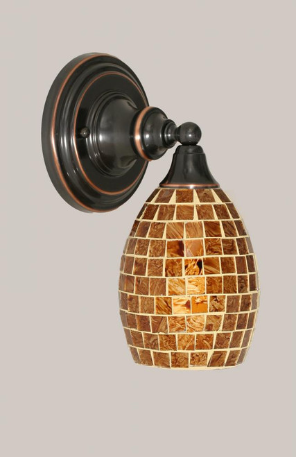 Black Copper Wall Sconce-40-BC-409 by Toltec Lighting