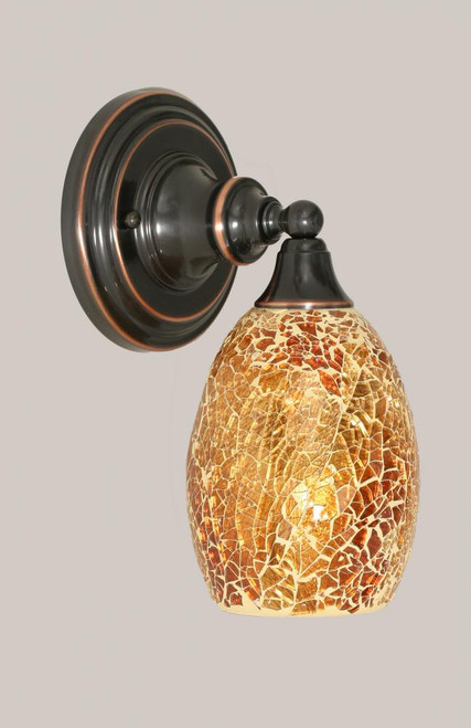 Black Copper Wall Sconce-40-BC-4175 by Toltec Lighting