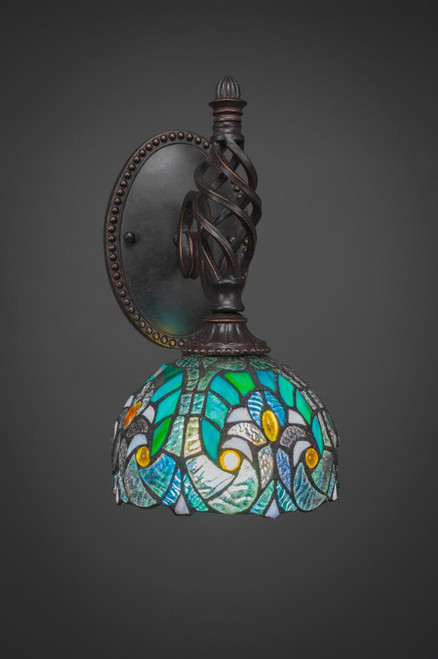Elegante Dark Granite Wall Sconce-161-DG-9925 by Toltec Lighting