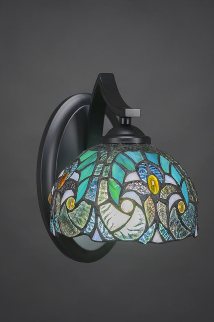 Zilo Matte Black Wall Sconce-551-MB-9925 by Toltec Lighting