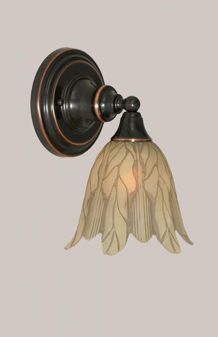 Black Copper Wall Sconce-40-BC-1025 by Toltec Lighting