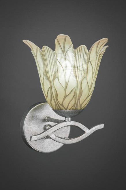 Revo Aged Silver Wall Sconce-141-AS-1025 by Toltec Lighting