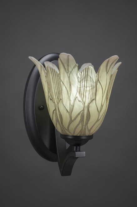 Zilo Matte Black Wall Sconce-551-MB-1025 by Toltec Lighting