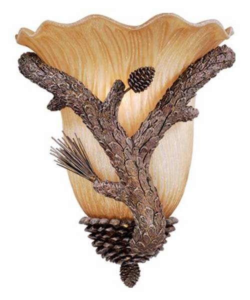 Aspen Pine Tree Wall Sconce-AS-WSU120PT by Vaxcel Lighting