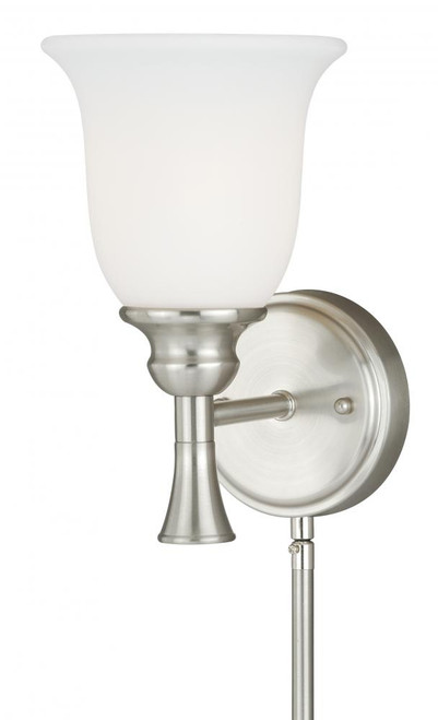 Bell Satin Nickel Wall Sconce-W0177 by Vaxcel Lighting