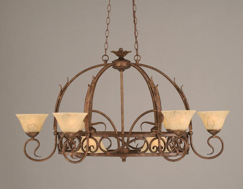 Eight Light Bronze Italian Marble Glass Pot Rack-216-BRZ-508 by Toltec Home Goods