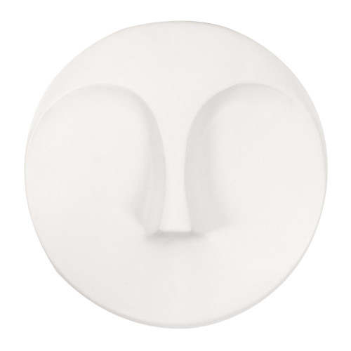 Matte White Round Face Wall Sculpture-34146 by Howard Elliott Home Goods