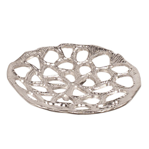 Nickel Plated Honeycomb Wall Artsmall-51004 by Howard Elliott Home Goods