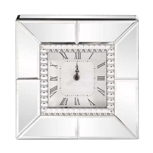 Mirrored Table Clock-99175 by Howard Elliott Home Goods