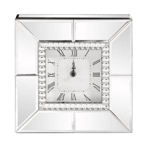 Mirrored Table Clock-99175 by Howard Elliott Home Goods