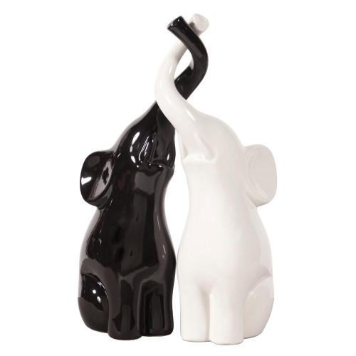 Elephant Love Black & White Sculpture-34104 by Howard Elliott Home Goods
