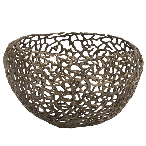 Aluminum Bronze Nest Basket-35083 by Howard Elliott Home Goods