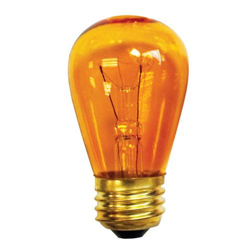 Bulbs & Accessories By Bulbrite 11W S14 SIGN TRANSPARENT AMBER E26 130V 701211