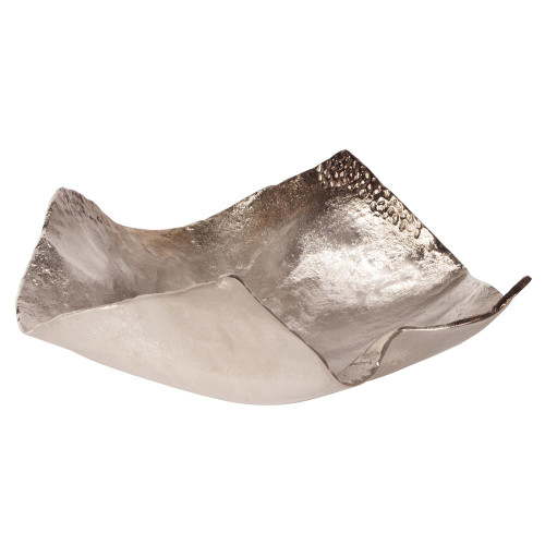 Champagne Silver Hammered Large Bowl-51003 by Howard Elliott Home Goods