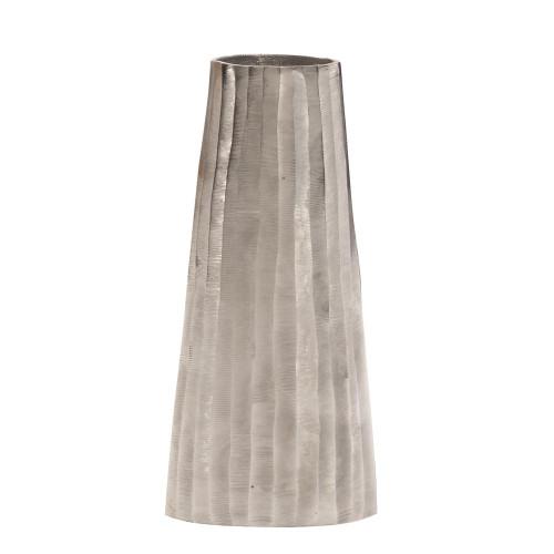 Silver Chiseled Metal Vase-35040 by Howard Elliott Home Goods