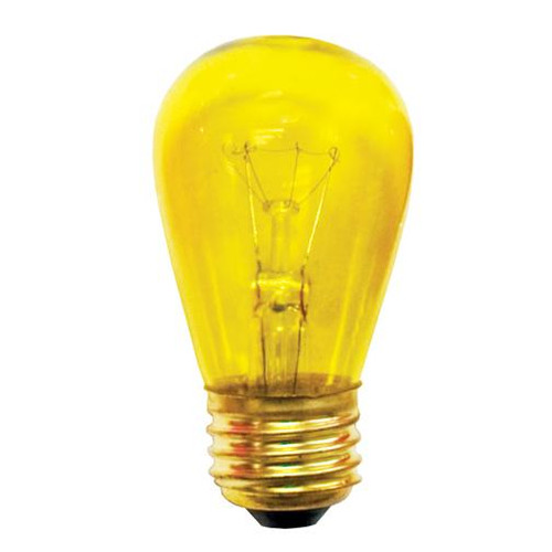 Bulbs & Accessories By Bulbrite 11W S14 SIGN TRANSPARENT YELLOW E26 130V 701811