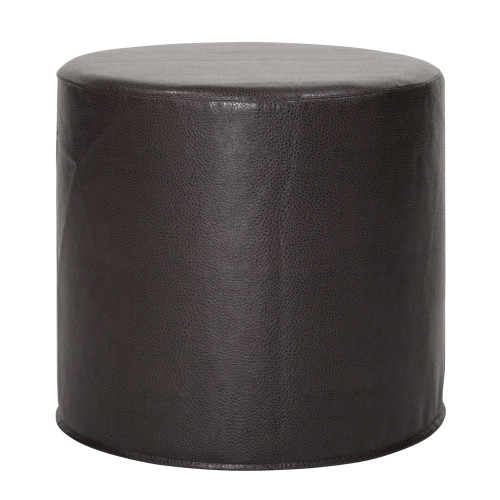 Avanti Black No Tip Cylinder Ottoman-851-194 by Howard Elliott Home Goods