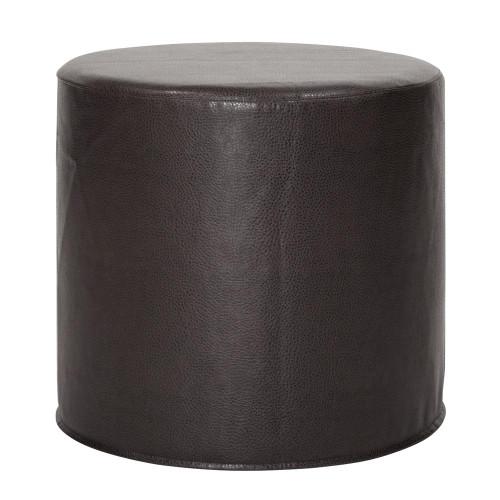 Avanti Black No Tip Cylinder Ottoman-851-194 by Howard Elliott Home Goods