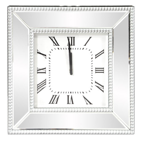 Mirrored Wall Clock-99172 by Howard Elliott Home Goods